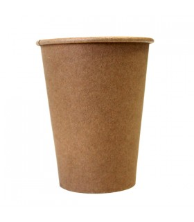 Vaso de cartón y PLA kraft 16 oz